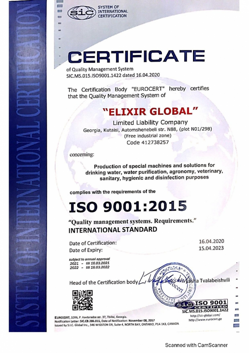 ISO 9001: 2015 - Quality Management Sistems. Requirement