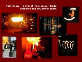 Fiery show