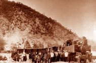ბორჯომ-ბაკურიანის პირველი ვიწრო ლიანდაგიანი მატარებელი