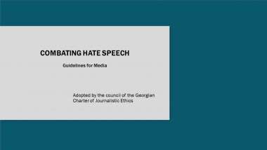 Combating Hate Speech - Guidelines for Media
