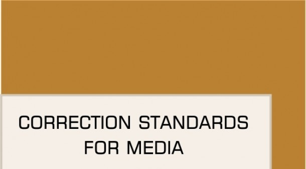 Correction Standards for Media - Guideline