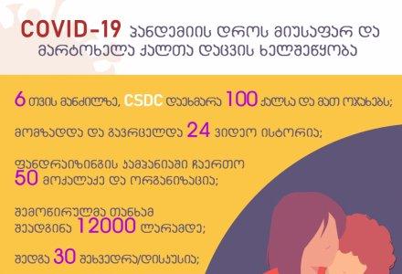 COVID 19-ის პანდემიის შედეგად თბილისში მცხოვრებ მარტოხელა, მიუსაფარი და მრავალშვილიანი ქალების პრობლემების ზოგადი მიმოხილვა
