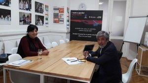 """Менеджер проектов """"Союза Грузинских Армян"""" встретилась с международным экспертом ООН по переписи населения."""