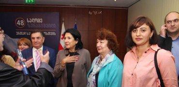 შეხვედრა საპრეზიდენტო კანდიდატ სალომე ზურაბიშვილთან