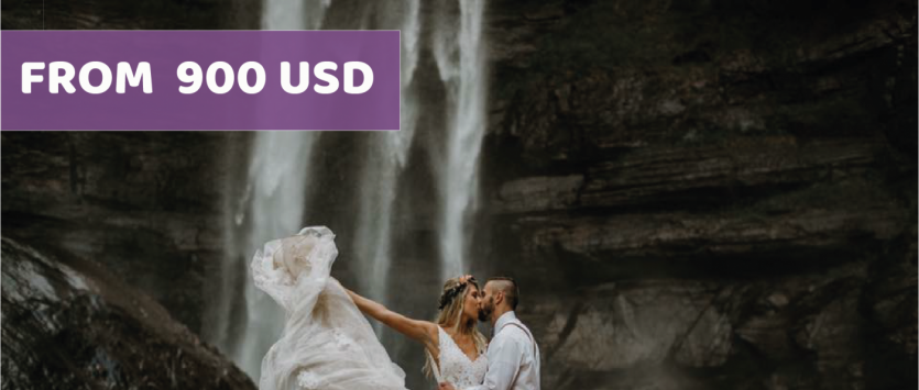 WATERFALL WEDDING IN OLD TOWN