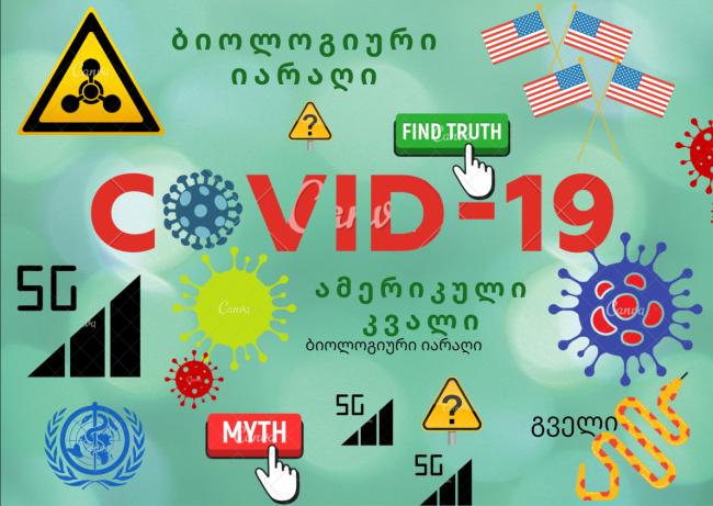 ბიოლოგიური იარაღი, ამერიკული კვალი, გველი, 5G, -  მითები Covid-19-ის  წარმოშობაზე
