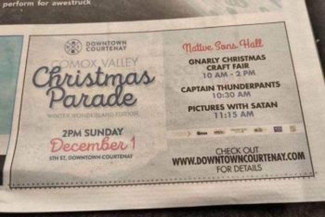 """""""სანტა"""" თუ """"სატანა""""? - კანადურმა გაზეთმა შეცდომისთვის ბოდიში მოიხადა"""