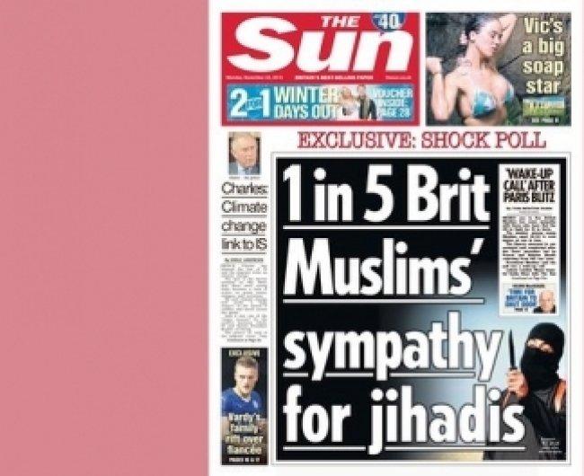 """""""Sun-ის"""" სტატიას, ბრიტანელი მუსლიმების შესახებ, შეცდომაში შემყვანი უწოდეს"""