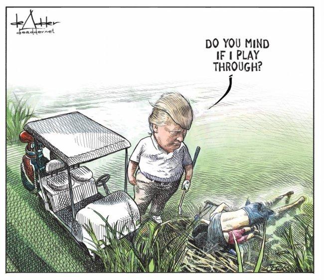კანადელ კარიკატურისტს დონალდ ტრამპის და მიგრანტების კარიკატურის გავრცელების შემდეგ კონტრაქტი შეუწყვიტეს
