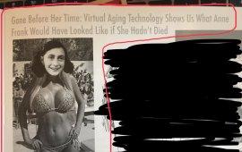 ჰარვარდის უნივერსიტეტის სტუდენტების სატირულმა გამოცემამ The Harvard Lampoon-მა ანა ფრანკის შეურაცხმყოფელი ფოტოსთვის ბოდიში მოიხადა.  გამოცემაში გამოქვეყნებული იყო ფოტო, რომელშიც ანა ფრანკის სახე ბიკინიანი მოდელის ტანზეა მიმაგრებული. ფოტოს სათაურად ეწერა: