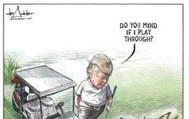 """კანადურმა გამოცემამ Brunswick News Inc-მა კარიკატურისტ მაიკლ დე ადერთან თანამშრომლობა შეწყვიტა. გადაწყვეტილება Twitter-ზე მის მიერ დონალდ ტრამპისა და მიგრანტების თემაზე შექმნილი კარიკატურის გავრცელებას მოჰყვა. ნახატზე ტრამპი გოლფის მოედანზე ორი მიგრანტის გვამის გვერდით დგას და მათ ეკითხება - """"წინააღმდეგები ხომ არ იქნებით, თამაში რომ გავაგრძელო?""""  გამოცემასთან თანამშრომლობის შეწყვეტის შესახებ Twitter-ზე თავად ადერმა დაწერა და განმარტა, რომ ის გამოცემის არა მუდმივი, არამედ კონტრაქტით დაქირავებული თანამშრომელი იყო და შესაბამისად, სამსახურიდან კი არ """"გაათავისუფლეს"""", არამედ უბრალოდ კონტრაქტი შეუწყვიტეს.  ტრამპის კარიკატურის გამო მაიკლ დე ადერთან კონტრაქტის შეწყვეტას უარყოფს Brunswick News Inc-ი. გამოცემაში განმარტავენ, რომ გადაწყვეტილება გახმოვანებამდე ერთი კვირით ადრე მიიღეს და მიზეზი უბრალოდ სხვა კარიკატურისტის დაქირავება იყო.  """"არასწორია ინფორმაცია თითქოს Brunswick News Inc-მა მაიკლ დე ადერთან კონტრაქტი დონალდ ტრამპის ბოლო კარიკატურის გამო გაწყვიტა. რეალურად, გადაწყვეტილების მიზეზი მკითხველის საყვარელი კარიკატურისტის გრეგ პერის დაბრუნება იყო, რომელთანაც მოლაპარაკებები კვირების განმავლობაში მიმდინარეობდა"""", - ნათქვამია გამოცემის მიერ Twitter-ზე გავრცელებულ განცხადებაში. თუმცა, ფაქტია, რომ გამოცემამ მასზე უარი მრავალწლიანი თანამშრომლობის შემდეგ, სწორედ აღნიშნული კარიკატურის გამოქვეყნების ფონზე თქვა.  წყარო:  imediaethics.org"""