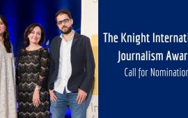 დაიწყო განაცხადების მიღება საერთაშორისო პრემიაზე Knight International Journalism Award – 2020