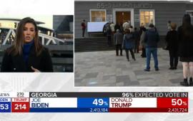"""ამერიკული ტელეკომპანია ABC News-მა პირდაპირ ეთერში, ჯორჯიის შტატის სააარჩევნო უბნების საილუსტრაციოდ, საქართველოს არჩევნებზე , თბილისში, 55-ე საჯარო სკოლაში გახსნილი საარჩევნო უბნის ამსახველი ფოტომასალა გაუშვა.  ამერიკის საპრეზიდენტო არჩევნების ჯორჯიის შტატში მიმდინარეობის თემაზე ჟურნალისტის ჩართვის პარალელურად, ეთერში გავიდა ჯორჯიის შტატში გახსნილი საარჩევნო უბნების ამსახველი ფოტოები. მათ შორის მოხვდა საქართველოს არჩევნებზე 55-ე სკოლაში გახსნილ საარჩევნო უბანზე გადაღებული კადრი, რომელიც უბანზე ხმის მისაცემად მისული მოსახლეობის რიგს ასახავს.     ინფორმაცია თავდაპირველად სოციალური ქსელის მომხმარებელმა შოთა ტყეშელაშვილმა გაავრცელა ფეისბუქის პირად გვერდზე.     ეს პირველი შემთხვევა არ არის, როდესაც ამერიკულ ტელეკომპანიებს ჯორჯიის შტატი საქართველოში ერევათ. 27 აპრილს FOX News-მა მარნეულში მოსახლეობის პროტესტი აშშ-ის შტატ ჯორჯიაში მიმდინარე აქციად გააშუქა და ეთერში რადიო """"მარნეულის"""" ვიდეო მასალა გაუშვა."""