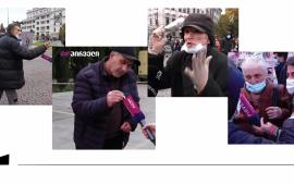 """ტელეკომპანია """"ფორმულას"""" და """"TV პირველის"""" ინფორმაციით, """"ქართული ოცნების"""" აქციის მონაწილეები ჟურნალისტებს სიტყვიერად და ფიზიკურად დაუპირისპირდნენ.  ტელეკომპანია """"ფორმულა"""" აცხადებს, რომ ჟურნალისტ რატი წვერავას """"ქართული ოცნების"""