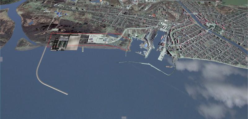 """სს """"ფოთის საზღვაო ნავსადგურის"""" მიერ ფოთში ახალი ნავსადგურის მშენებლობის პროექტი."""