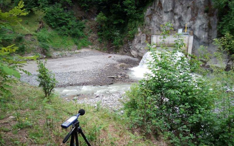 Измерение шума в районе Дидаджарского водохранилища