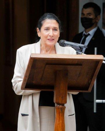 Слово президента Грузии на мероприятии, посвященном присвоению Звания почетного доктора