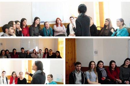შეხვედრა ქრისტიანული ფსიქოლოგიის დამამთავრებელი კურსის სტუდენტებთან