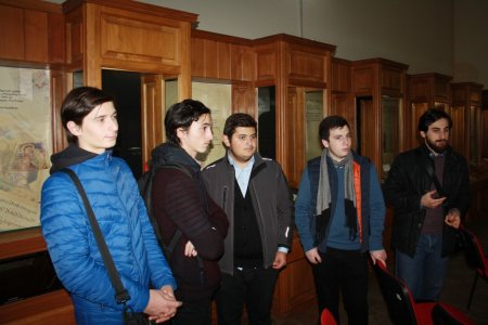first-year students visited the National Center of Korneli Kekelidze Institute of Manuscripts